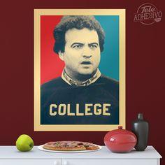 Vinilos Decorativos: Póster adhesivo John Belushi College #poster #cine #belushi #lámina #vinilo #TeleAdhesivo Actor John, Baseball Cards, Adhesive, Vinyls, Fabrics, Movies, Illustrations