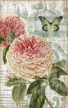 Vintage Jardin Pink Sign: Custom Vintage Signs