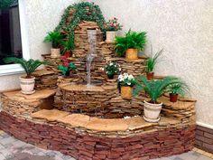 Декоративный фонтан в квартире своими руками