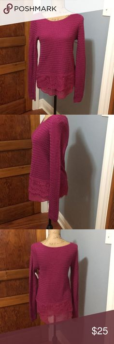 Lucky brand vibrant purple sweater. Lucky brand vibrant purple sweater. In amazing condition size small. lucky Sweaters