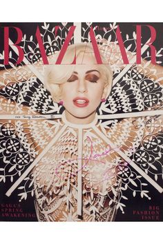 5 Cover Boards Signed by Lady Gaga and Terry Richardson. Click the photo to bid!
