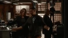 Stana Katic and Jon Huertas dancing it out. Castle bloopers