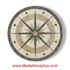 Orion  36 Mosaic Marble Floor Medallion Inlay