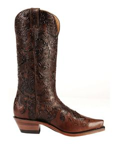 Boulet Tooled Calf with Wingtip Cowgirl Boots - Snip Toe @Rosie HW McCormack ... Ooooooooh! THESE!!!