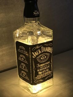 Jack Daniels Micro LED Lamp by upcycleGB on Etsy