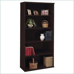 Bush BBF Series C 36W 5-Shelf Bookcase in Hansen Cherry