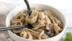Pâtes aux champignons et moutarde Weight Watchers,, une recette facile et simple des pâtes avec une bonne sauce à la moutarde et aux champignons .