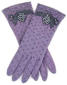 vintage purple gloves