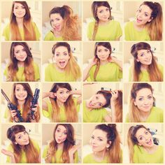 I just love how Zoella styles her ombre hair, I totally suggest checking out some of her videos! Zoe Sugg, Zoella Beauty, Hair Beauty, Hair Inspo, Hair Inspiration, Zoella Style, Cute Hairstyles, Zoella Hairstyles, About Hair