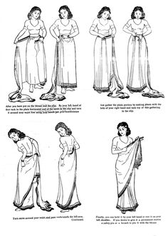 instructions for sari tying - instructions for sari tying Source by DoubleAV - Drape Sarees, Saree Draping Styles, Sari Hindu, Indian Dresses, Indian Outfits, Greek Outfits, How To Wear A Sari, Convertible Clothing, Fashion Vocabulary