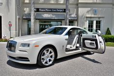 Rare Rolls-Royce Wraith in Carrara White - Recommended by RAFO and Art & Luxury Rolls Royce Wraith, Bentley Rolls Royce, Rolls Royce Cars, White Rolls Royce, Sexy Cars, Hot Cars, Bugatti, Rr Wraith, Automobile
