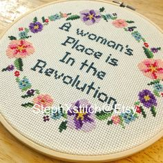 PATTERN Subversive Feminist Cross Stitch A Woman's Place