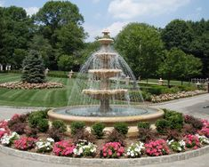 Impress Your Guests with a Large Outdoor Water Fountain Large Outdoor Fountains, Landscaping With Fountains, Stone Fountains, Garden Fountains, Modern Landscaping, Outdoor Landscaping, Water Fountains, Landscaping Ideas, Water Fountain Design