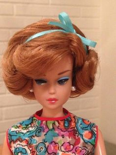 No image source found, but isn't she a lovely Barbie? Love the red hair and how it is styled. Play Barbie, Barbie I, Vintage Barbie Dolls, Barbie World, Barbie And Ken, Barbie Clothes, Barbie Outfits, Barbies Pics, Guys And Dolls