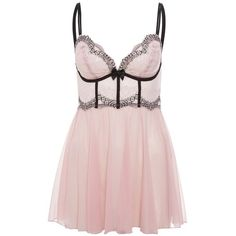 DKNY Intimates SEDUCTIVE LIGHTS Nightie hush pink/black (165 BRL) ❤ liked on Polyvore featuring intimates, sleepwear, nightgowns, dresses, lingerie, pajamas, underwear, rose, transparent lingerie and dkny lingerie