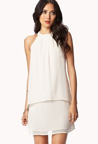 Love 21 | Contemporary Fashion Brand -->LOVE 21 Layered Georgette Shift Dress