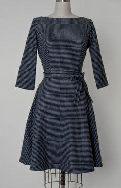 $99 Black Flannel Mitzi Dress