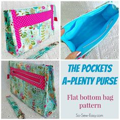 I love this flat bottom bag pattern.  Takes a bit more time to sew, but totally worth the extra effort for such a great bag.