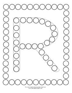 DotMini-R Nursery Activities, Alphabet Activities, Preschool Activities, Early Childhood Activities, Do A Dot, Preschool Writing, Letter Of The Week, Worksheets For Kids, Fine Motor Skills