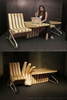 Flexible bench. (Brilliant idea! Two in one :-))