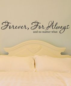 Black 'Forever For Always' Wall Quote