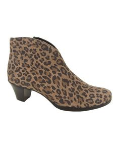 Another great find on #zulily! Leopard Robyn Suede Bootie by Munro Shoes #zulilyfinds