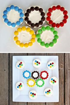 You need to make Olympic Ring Cookies for your Rio Olympics viewing party. Use this recipe to see how. Special Olympics, Summer Olympics, Beer Olympics Party, Kids Olympics, Olympic Idea, Olympic Games, Olympic Gymnastics, Gymnastics Party, Gymnastics Quotes
