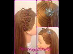 Peinado Facil para Niña con Lasos y Trenza  - Easy Girls Hairstyle with ...