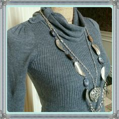 ❤HOST PICK❤My knit baby gray sweater dress So chic and cute is this gray colored sweater dress. Pull over style. Beautiful cond. Acrylic polyester blend. Junior size S take out Dresses