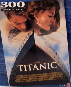 This Mattel 300 piece jigsaw puzzle features the iconic movie poster from James Cameron's version of the Titanic with Leonardo DiCaprio and Kate Winslet. It's listed on eBay at $29.95 with FREE U.S. and Canadian shipping. #titanic #leonardodicaprio