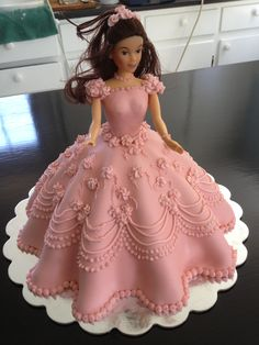 My first doll cake.  I love doing doll cakes.