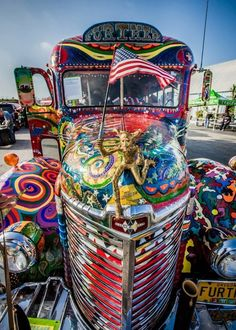 Further Bus - yes, that's how it is spelled! #Furthur #Kesey ...