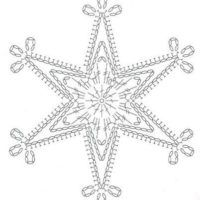 crochet pattern - star snowflake hexagon six points chart / diagramgwiazdka na Stylowi.We knit a snowflake with a hook – picking … Snowflake … – Snowflakes World Crochet Diagram, Crochet Motif, Crochet Designs, Crochet Doilies, Crochet Flowers, Diy Crochet, Crochet Snowflake Pattern, Christmas Crochet Patterns, Crochet Snowflakes