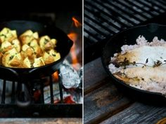 Beautiful Cowboy Cooking – Cast Iron Pans and BBQ Salt Crusted Fish