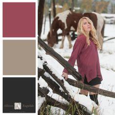 Senior Portrait Outfit Color Palette, Rose, Allison Ragsdale Photography, Durango CO