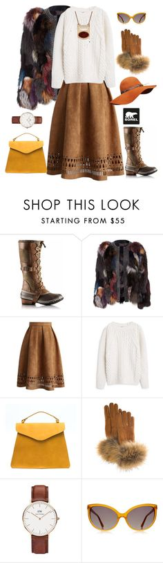 """Introducing the 2015 Winter Collection from SOREL: Contest Entry"" by giulia-sicilia ❤ liked on Polyvore featuring moda, SOREL, Chicwish, MANGO, FRR, Daniel Wellington, Linda Farrow Luxe e Lucky Brand"
