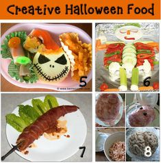 This is one of my favorite posts on gross Halloween party food for kids. If you're looking for fun Halloween party ideas and kids games for Halloween, why not make some of these party food ideas together! Gross Halloween Party Food 1. Mandy's mummy meatloaf dinner 2. Frank'n Monster Meal 3. Muenster Beetles 4. Lacey's Halloween dinner Party Food Ideas 5. Halloween Bento Boxes 6. Creative Halloween veggie plates 7. Gruesome Halloween party food 8. Dabbled's creepy ...