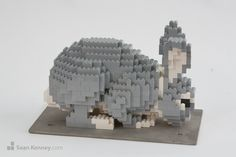 Sean Kenney - Art with LEGO bricks : Small rabbit