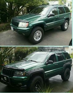 before and after some mods done 99 jeep grand cherokee