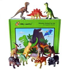 Plastic Toy Dinosaurs - 12 pack