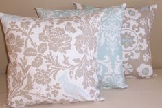 Set of 3 Throw Pillow Covers 16x16 Mix and Match by ktechstyles, $43.50