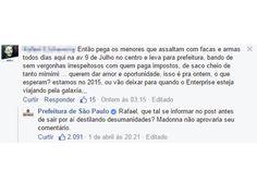 Prefeitura de São Paulo alfineta leitores