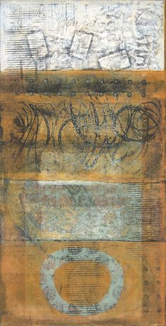 """Time Taken Hostage, Monotype by Anne Moore, 20""""x10"""""""