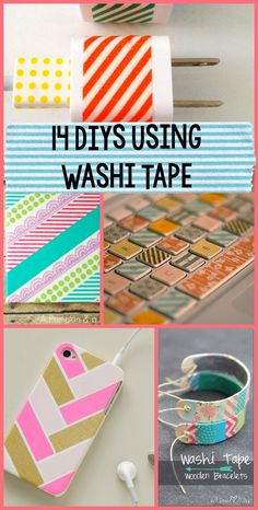 Ahh the beloved Washi Tape. As we all know, washi tape can be used on about anything. With all the different colors and patterns to choose from, why wouldn't you washi tape everything? Here are 14 ideas to give you a reason to pull out your fav colors and designs of washi tape. 1. Washi …