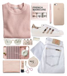 #65 So pink. by antonellamalet on Polyvore featuring moda, H&M, Nudie Jeans Co., adidas Originals, Acne Studios, Etude House, Anastasia and Samsung