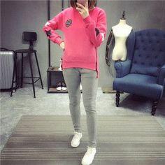 Street fashion sports suit