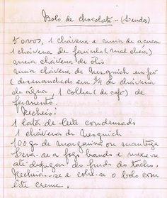 As Receitas da Avó Helena e da Avó Eduarda: Bolo de Chocolate