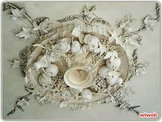 Гипсовая лепнина, орнамент, барельеф