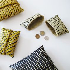 handwoven papyrus purses/coin holders