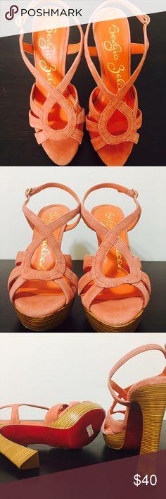 Sergio Zelcer Red Bottom Peach Heels Brand New. Sergio Zelcer Shoes Heels
